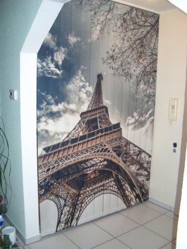 Foto Lamellenvorhang mit Eifelturm in Paris