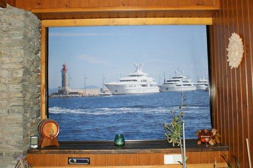 Fotorollo bedruckt mit einem Schiff