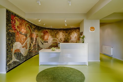 Wand Foto-Teppich für den Kundenempfang in Berlin
