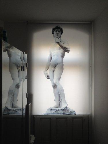 """Fotorollo mit Kunst Motiv """" David """" von Michelangelo"""