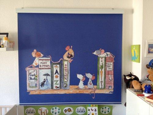 Foto Kassettenrollo mit Kinder Motiv für das Kinderzimmer